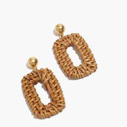 Rattan Statement Earrings | Madewell