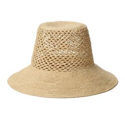Janessa Leone Lynda Woven Straw Bucket Hat | Neiman Marcus