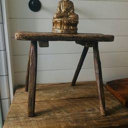 ANTIQUE MILKING STOOL | Antique Stool | Primitive Stool | Rustic Stool | Small Antique Rustic Woo... | Etsy (US)