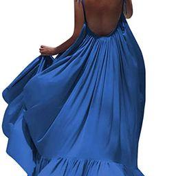 LISTHA Beach Backless Maxi Dress Women Boho Sleeveless Summer Party Long Dress | Amazon (CA)
