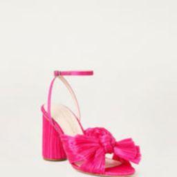Camellia Bow Ankle Strap Heel Fuchsia | Loeffler Randall