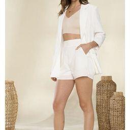 Lorelei Two piece Blazer Set in White $64 | Indigo Closet