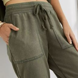 Aerie Real Good Sunwashed Fleece Distressed Jogger   American Eagle Outfitters (US & CA)