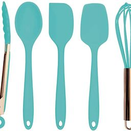 Cook with Color Silicone Cooking Utensils, 5 Pc Kitchen Utensil Set, Easy to Clean Silicone Kitch... | Amazon (US)