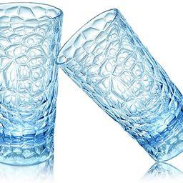 Unbreakable Premium Drinking Glasses, Plastic Highball Glasses, 12 oz/350ml Plastic Water Glasses... | Amazon (US)