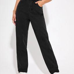 High Waist Straight Leg Jeans | SHEIN