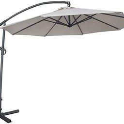 Abba Patio 10-Feet Offset Cantilever Umbrella Outdoor Hanging Patio Umbrella, Ivory | Amazon (US)