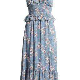FLORET STUDIOS Luna Floral Smocked Midi Dress | Nordstrom | Nordstrom
