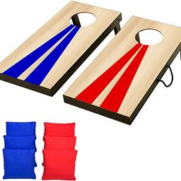 GoSports Portable Size Cornhole Game Set with 6 Bean Bags - Great for Indoor & Outdoor Play (Choo... | Amazon (US)