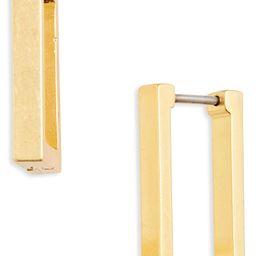 Madewell Square Huggie Hoop Earrings | Nordstrom | Nordstrom