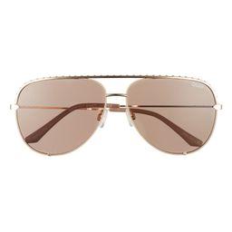 Rivet 56mm Aviator Sunglasses | Nordstrom