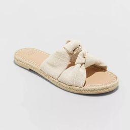 Women's Miriam Double Knotted Espadrille Slide Sandals - A New Day™   Target