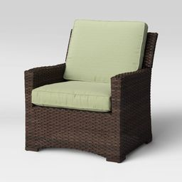 Halsted Wicker Patio Club Chair - Sage - Threshold | Target