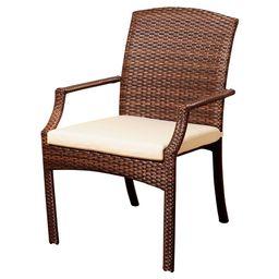 Miami Beach 4 pc Wicker Patio Dining Armchairs - Brown | Target