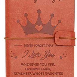 PRSTENLY to My Daughter Leather Journal, 140 Page Refillable Journal Notebooks, Travel Journal Di... | Amazon (US)