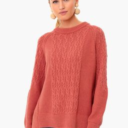 Nantucket Red Cotton Cable Charles Sweater   Tuckernuck (US)