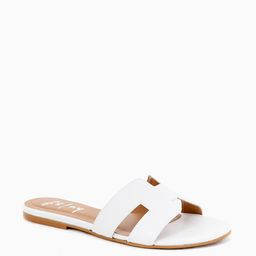 White Leather Alibi Sandals | Tuckernuck (US)