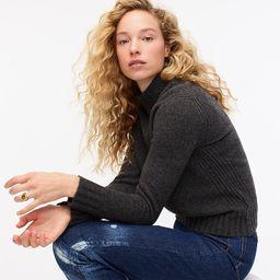 Mockneck sweater in supersoft yarn | J.Crew US