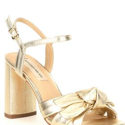 Gybson Metallic Leather Knotted Dress Sandals | Dillards