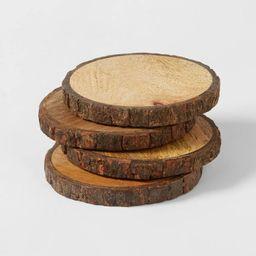 4pk Live Edge Wood Coasters Brown - Threshold™ | Target