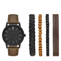 Men's Strap Watch Set - Goodfellow & Co™ Brown | Target