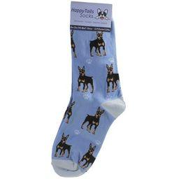 "Novelty Socks 14.0"" Doberman Happy Tails Socks Premium Quality E & S Pet  -  Socks   Target"