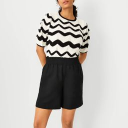 The Pull On Short in Linen Blend | Ann Taylor | Ann Taylor (US)
