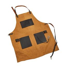 Pit Boss Canvas & Leather Grilling Apron with Pockets and Bottle Opener | Walmart (US)