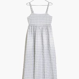 Summertime Cami Midi Dress in Seersucker Gingham | Madewell