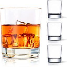 COPLIB Whiskey Glasses Set of 4 -11 OZ Old Fashioned Glasses/Premium Crystal Glasses, Perfect for... | Amazon (US)