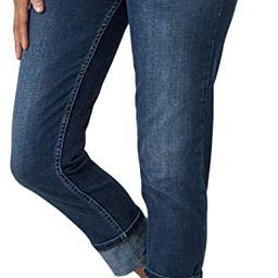 Riders by Lee Indigo Women's Modern Collection Roll Cuff Straight Leg Denim Cropped Jean | Amazon (US)