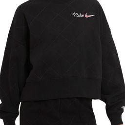 Sportswear Quilted Fleece Sweatshirt | Nordstrom