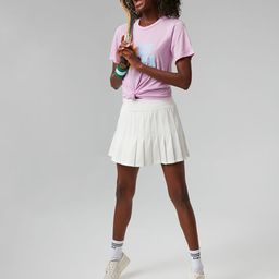 White and Fresh Buds Tennis Skirt | Tuckernuck (US)