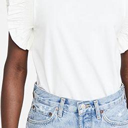 Poplin Knit Mixed Ruffle Detail Top | Shopbop