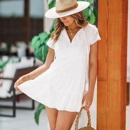 Summer Breeze Dress - White | Hazel and Olive