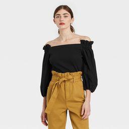 Women's Balloon 3/4 Sleeve Bardot Top - Who What Wear™ | Target