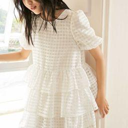 Adley White Ruffle Mini Dress | J.ING