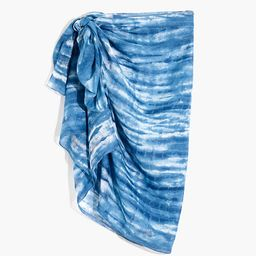Indigo Tie-Dye Sarong Scarf | Madewell