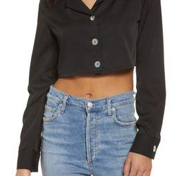 SNDYS Lies Crop Button-Up Shirt   Nordstrom   Nordstrom
