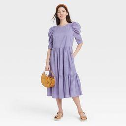 Women's Elbow Sleeve Eyelet Dress - A New Day™   Target