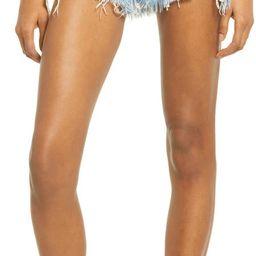 Chewed Hem High Waist Denim Shorts | Nordstrom