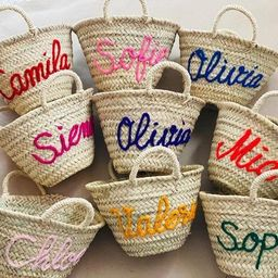 Personalized straw moroccan basket,bridal shower bags,customized straw bags,custom beach bag,stra...   Etsy (US)