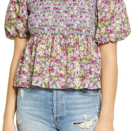 English Factory Floral Smocked Puff Sleeve Top   Nordstrom   Nordstrom