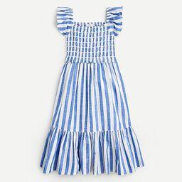 Girls' printed smocked dress | J.Crew US
