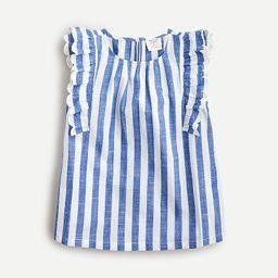 Girls' sleeveless ruffle-trim top | J.Crew US