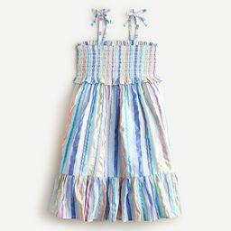 Girls' smocked bodice tie-shoulder dress | J.Crew US