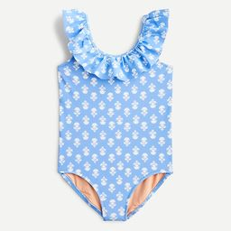 Girls' ruffle-trim one-piece swimsuit | J.Crew US