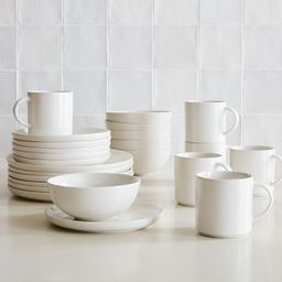 Coupe Stoneware Dinnerware (Set of 24) | West Elm (US)