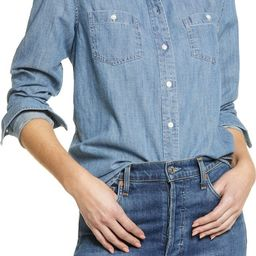 Classic Chambray Button-Up Shirt   Nordstrom