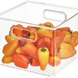 "iDesign 71230 Plastic Bin, Kitchen Storage Organizer for Refrigerator, Freezer and Pantry, 8"" x 8... | Amazon (US)"